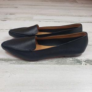 J.Crew Gwen flats closed toed shoe black leather 9